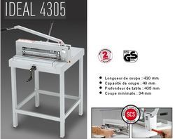 Massicot IDEAL 4305 sur stand