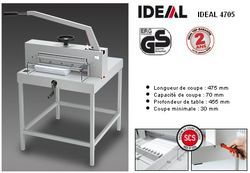 Massicot manuel IDEAL 4705 sur stand métallique